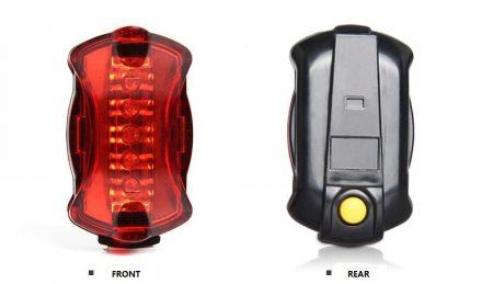 Waterproof IP65 5 red led bike tail light 6 mode cycling lamp AAA battery