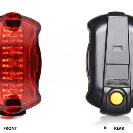 Waterproof IP65 5 red led bike tail light 6 mode cycling lamp AAA battery